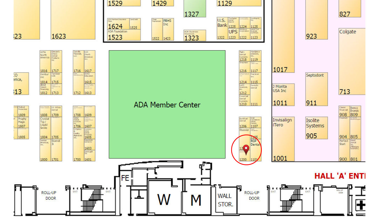 Booth Location Floor Plan